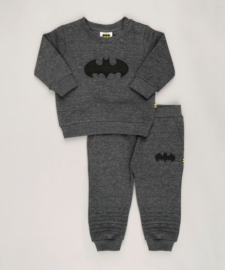 Conjunto-Infantil-Batman-de-Blusao---Calca-em-Moletom-Cinza-Mescla-Escuro-8909799-Cinza_Mescla_Escuro_1