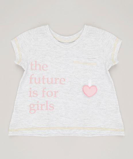 Blusa-Infantil-Interativa--The-Future--Manga-Curta-Decote-Redondo-Cinza-Mescla-9030144-Cinza_Mescla_1