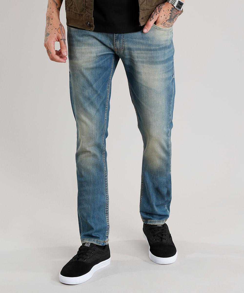 f376cc0c4 Calça Jeans Masculina Slim Azul Médio - ceacollections