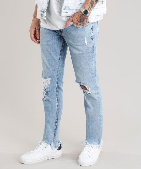 Calca-Jeans-Masculina-Skinny-Destroyed-Azul-Claro-9029559-Azul_Claro_1