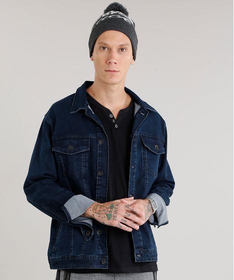 Jaqueta-Masculina-Jeans-Manga-Longa-Azul-Escuro-9047826- ... f92c12f440c
