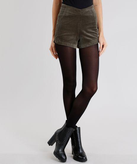 Short-Feminino-Hot-Pant-em-Veludo-Cotele-Cintura-Alta-Verde-Militar-8856008-Verde_Militar_1