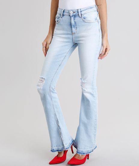 Calca-Jeans-Feminina-Flare-Destroyed-Azul-Claro-9075462-Azul_Claro_1