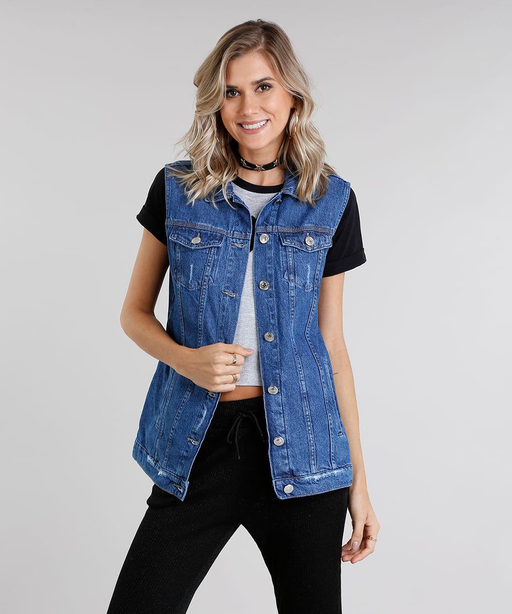 da881b5285 ... Colete-Jeans-Feminino-Oversized-Azul-Medio-9114729-Azul Medio 1