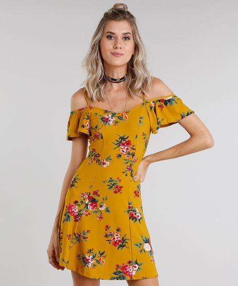 Vestido-Feminino-Open-Shoulder-Estampado-Floral-Amarelo-Escuro-9033235-Amarelo_Escuro_1