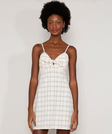 Vestido-Feminino-Curto-Estampado-Quadriculado-com-Bojo-e-No-Alca-Fina-Off-White-9965306-Off_White_1