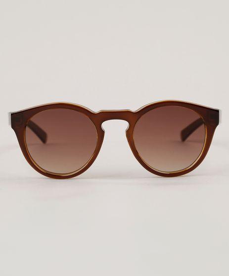 Oculos-de-Sol-Redondo-Feminino-Oneself-Marrom-9102639-Marrom_1