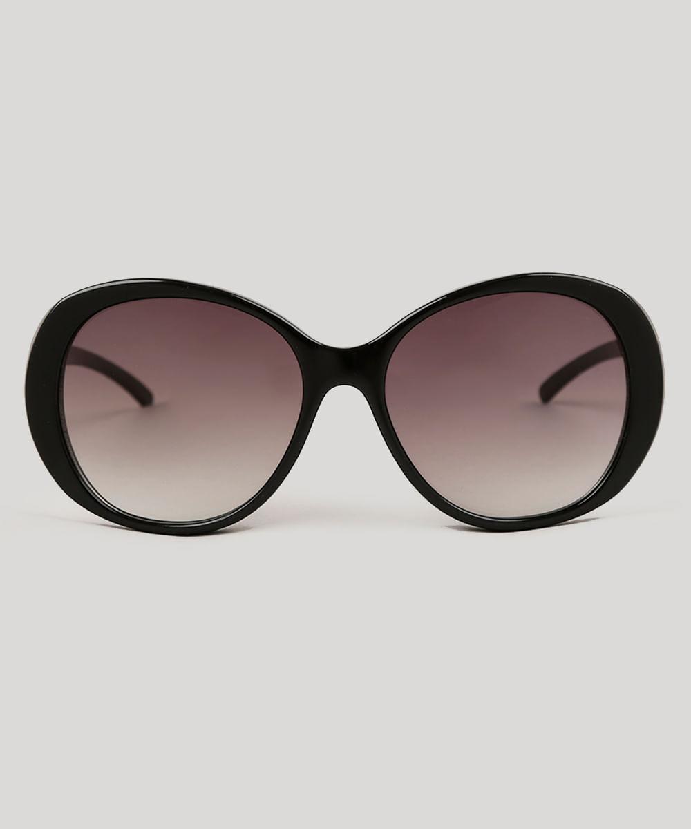Óculos de Sol Quadrado Feminino Oneself Preto - ceacollections 04ac5fa343