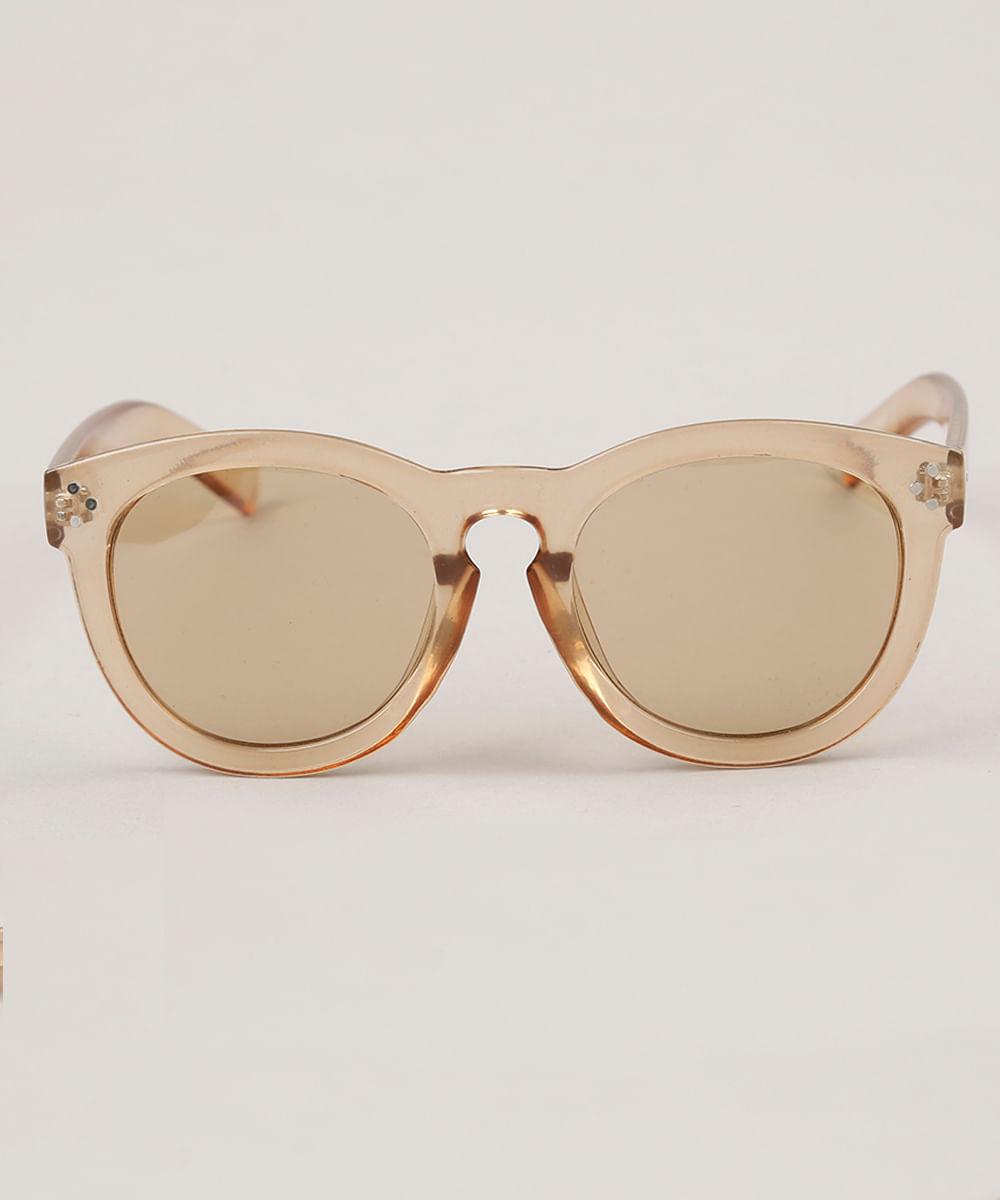 dcc504de12 Óculos de Sol Redondo Feminino Oneself Transparente - ceacollections