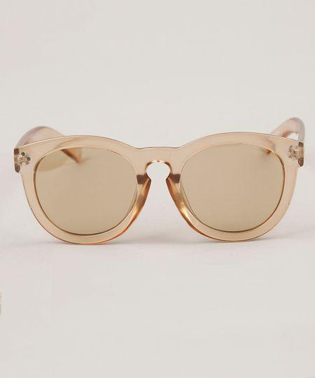 ef4258af38ef2 Óculos de Sol Redondo Feminino Oneself Transparente - ceacollections