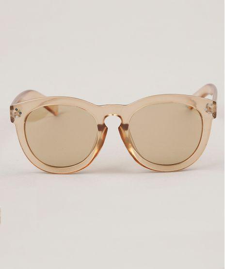 448dc0fd7257d Oculos-de-Sol-Redondo-Feminino-Oneself-Transparente-9138044-