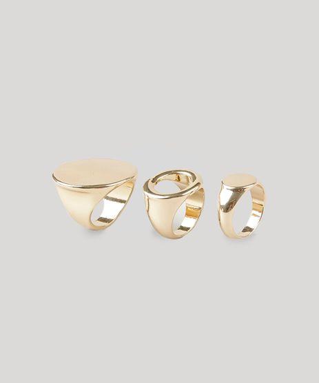 Kit-de-3-Aneis-Femininos-Dourado-8839742-Dourado_1