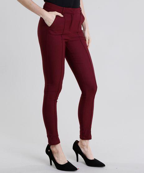 Calca-Feminina-Skinny-Cintura-Alta-Vinho-8997143-Vinho_1