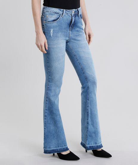Calca-Jeans-Feminina-Flare-Cintura-Alta-Azul-Claro-9011557-Azul_Claro_1