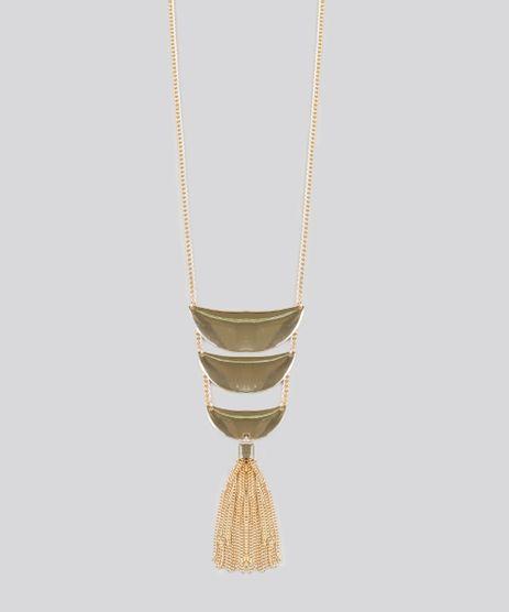 Colar-Feminino-Longo-Geometrico-com-Franja-Dourado-8839714-Dourado_1