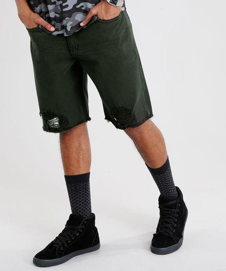 Bermuda-Masculina-Reta-Destroyed-Verde-Militar-9077173-Verde_Militar_1