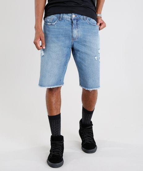 Bermuda-Jeans-Masculina-Reta-Azul-Medio-9073280-Azul_Medio_1