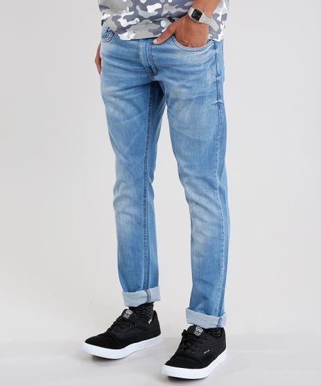 Calca-Jeans-Masculina-Slim-em-Algodao---Sustentavel-Azul-Medio-8655423-Azul_Medio_1