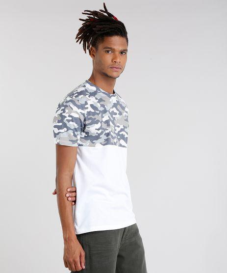 Camiseta-Masculina-com-Estampa-Camuflada-Manga-Curta-Gola-Careca-Branca-9089662-Branco_1