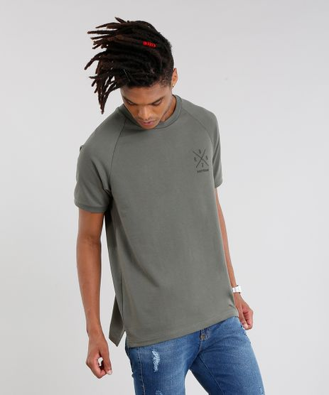 Camiseta-Masculina-Nineteen-86--Manga-Curta-Gola-Careca-Verde-Militar-9089660-Verde_Militar_1