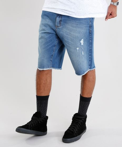 Bermuda-Jeans-Masculina-Reta-Azul-Medio-9073281-Azul_Medio_1