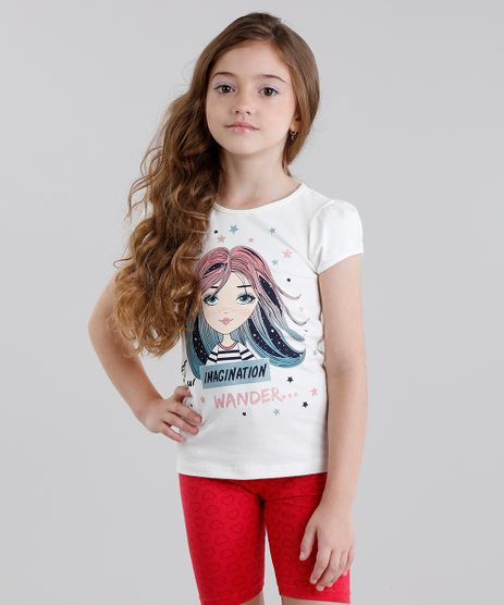 Blusa-Infantil--Let-Your-Imagination--Manga-Curta-Decote-Redondo-em-Algodao---Sustentavel-Off-White-9014051-Off_White_1