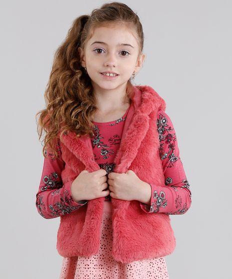 Colete-Infantil-de-Pelo-com-Capuz-Rosa-Escuro-8906015-Rosa_Escuro_1