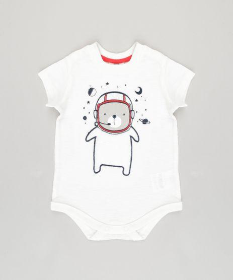 Body-Infantil--Urso-Astronauta--Manga-Curta-Gola-Careca-em-Algodao---Sustentavel-Branco-8878415-Branco_1