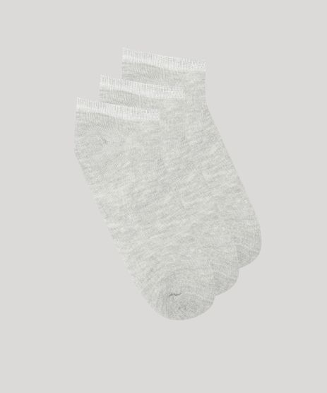 Kit-de-3-Meias-Infantis-Soquete-Cinza-Mescla-9045640-Cinza_Mescla_1