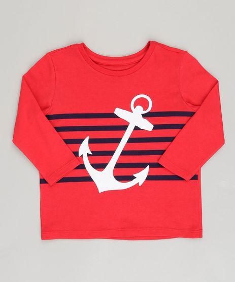Camiseta-Infantil--Ancora--Manga-Longa-Gola-Careca-Vermelha-9093461-Vermelho_1