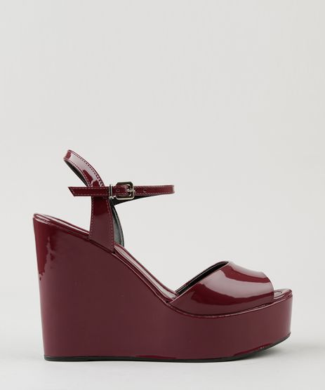 Sandalia-Plataforma-Feminina-em-Verniz-Vinho-9081223-Vinho_1