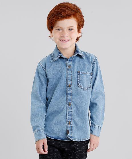 Camisa-Jeans-Infantil-Manga-Longa--Azul-Claro-9046440-Azul_Claro_1