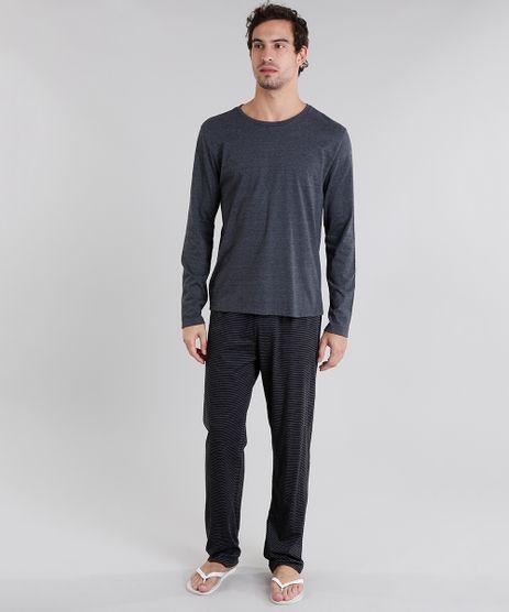 Pijama-Masculino-Cinza-Mescla-Escuro-9048909-Cinza_Mescla_Escuro_1