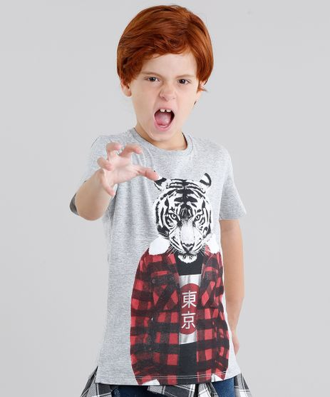 Camiseta-Infantil-Tigre-Manga-Curta-Gola-Careca-Cinza-Mescla-9040827-Cinza_Mescla_1