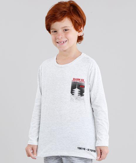 Camiseta-Infantil--Tokyo--Manga-Longa-Gola-Careca-Cinza-Mescla-Claro-9033485-Cinza_Mescla_Claro_1