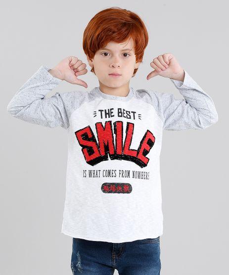 Camiseta-Infantil-Raglan--Smile--Manga-Longa-Gola-Careca-Off-White-9040903-Off_White_1