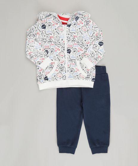 Conjunto-Infantil-de-Blusao-em-Moletom-Estampado---Camiseta-Manga-Longa-Vermelha---Calca-em-Moletom-de-Algodao---Sustentavel-Azul-Marinho-8878401-Azul_Marinho_1