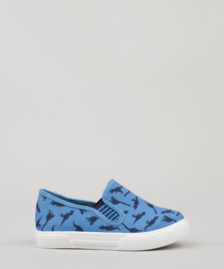 Tenis-Slip-On-Infantil-Molekinho-Estampado-de-Dinossauros-Azul-9172380-Azul_1