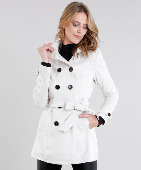 Casaco-Feminino-Trench-Coat-em-Suede-Bege-Claro-8888639-Bege_Claro_1