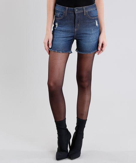 Short-Jeans-Feminino-Reto-Alto-Cintura-Alta-Azul-Escuro-9010643-Azul_Escuro_1
