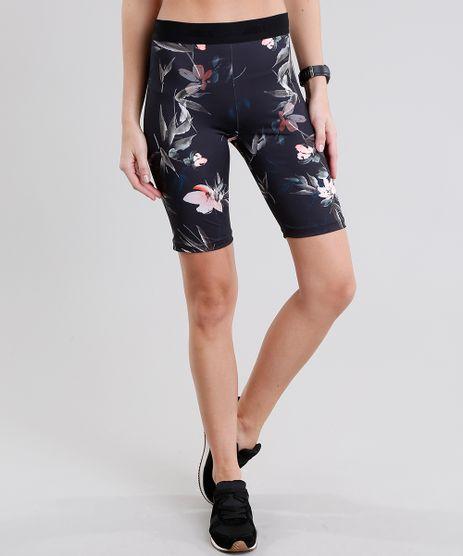 Bermuda-Feminina-Esportiva-Ace-Estampada-Floral-Preta-9085217-Preto_1