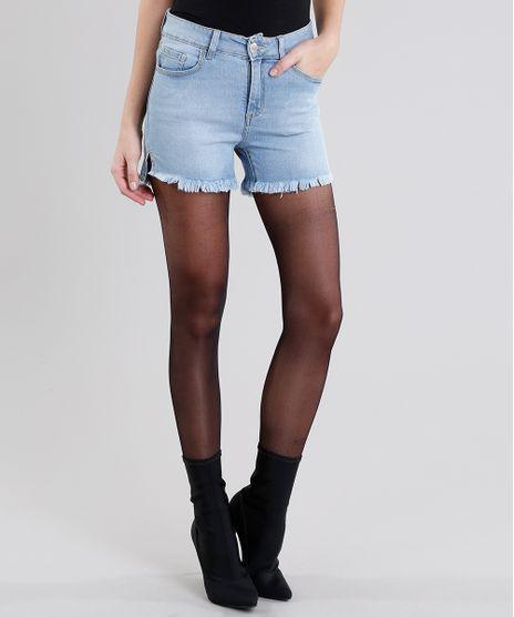 Short-Jeans-Feminino-Reto-Cintura-Alta-Azul-Claro-9035724-Azul_Claro_1