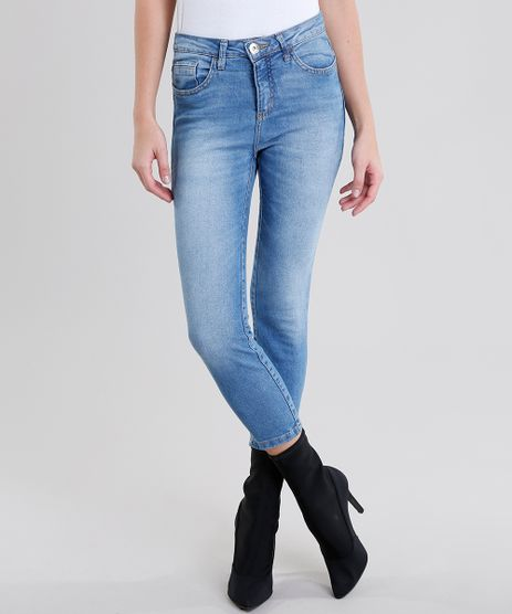 Calca-Jeans-Feminina-Cropped-Cintura-Alta-Azul-Medio-9141142-Azul_Medio_1