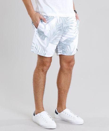 Short-Masculino-Estampado-de-Folhagem-Branca-9078642-Branco_1