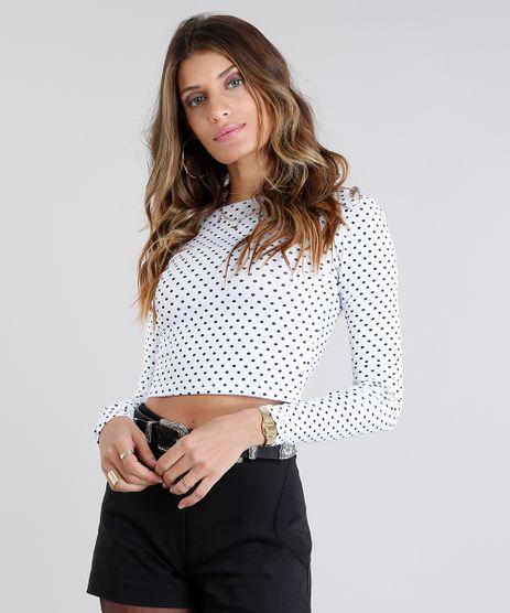 Blusa-Feminina-Cropped-Estampada-de-Poa-Manga-Longa-Branca-9113284-Branco_1