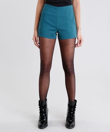 Short-Feminino-Hot-Pant-Curto-Verde-Escuro-8959525-Verde_Escuro_1