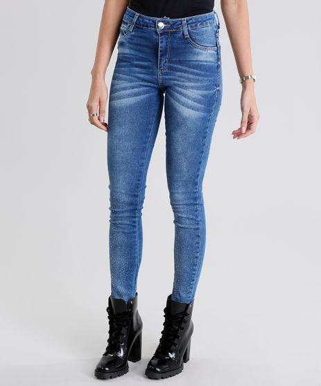 Calca-Jeans-Feminina-Sawary-Super-Skinny-Push-Up-com-Brilho-Azul-Medio-9135606-Azul_Medio_1