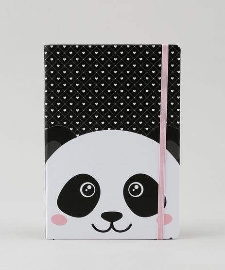 Caderno-Estampado-de-Panda-e-Coracoes-sem-Pauta-205-cm-x-145-cm-Preto-9167662-Preto_1