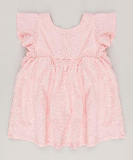 Vestido-Infantil-com-Bordado-Floral-Rosa-8816269-Rosa_1