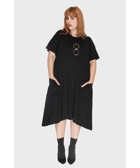 9c88cdaad1177f Vestido Evasê com Bolsos Plus Size